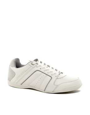 Image 1 ofDiesel Hurrikane Leather Trainers