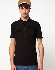 Rough Justice Polo Shirt With Chest Pockets