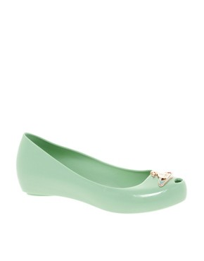 Image 1 ofVivienne Westwood for Melissa Ultragirl Orb X Ballet Flats