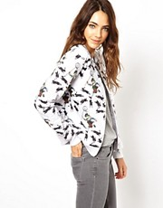 Neal Murren for ASOS Quilted Bomber in Rabbit Catcher Print