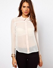 Lipsy Blouse with Embellished Cuffs
