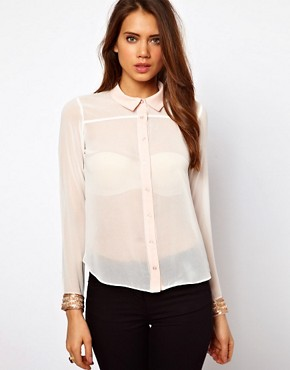 Image 1 ofLipsy Blouse with Embellished Cuffs