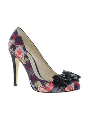 Image 1 ofFaith Ferne Printed Satin Court Shoes
