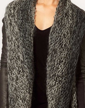 Image 3 ofMuubaa Leather Galatti Knitted Waterfall Jacket