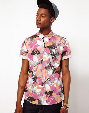 Image 1 ofASOS Shirt In Spray Print