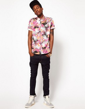 Image 4 ofASOS Shirt In Spray Print