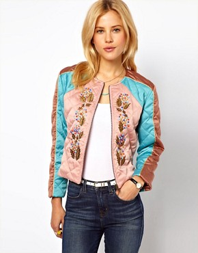 Image 1 ofASOS Jacket with Embroidery
