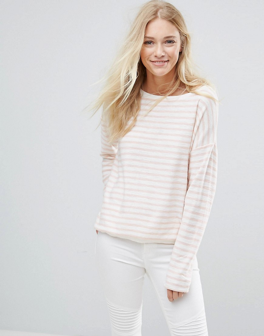 Blend She Striped Sweater - Rose