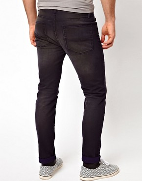 Image 2 ofASOS Slim Fit Ripped Jeans With Navy Contrast
