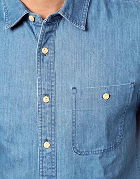 Image 3 ofASOS Denim Shirt With Short Sleeves