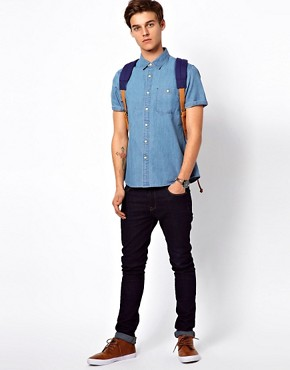 Image 4 ofASOS Denim Shirt With Short Sleeves