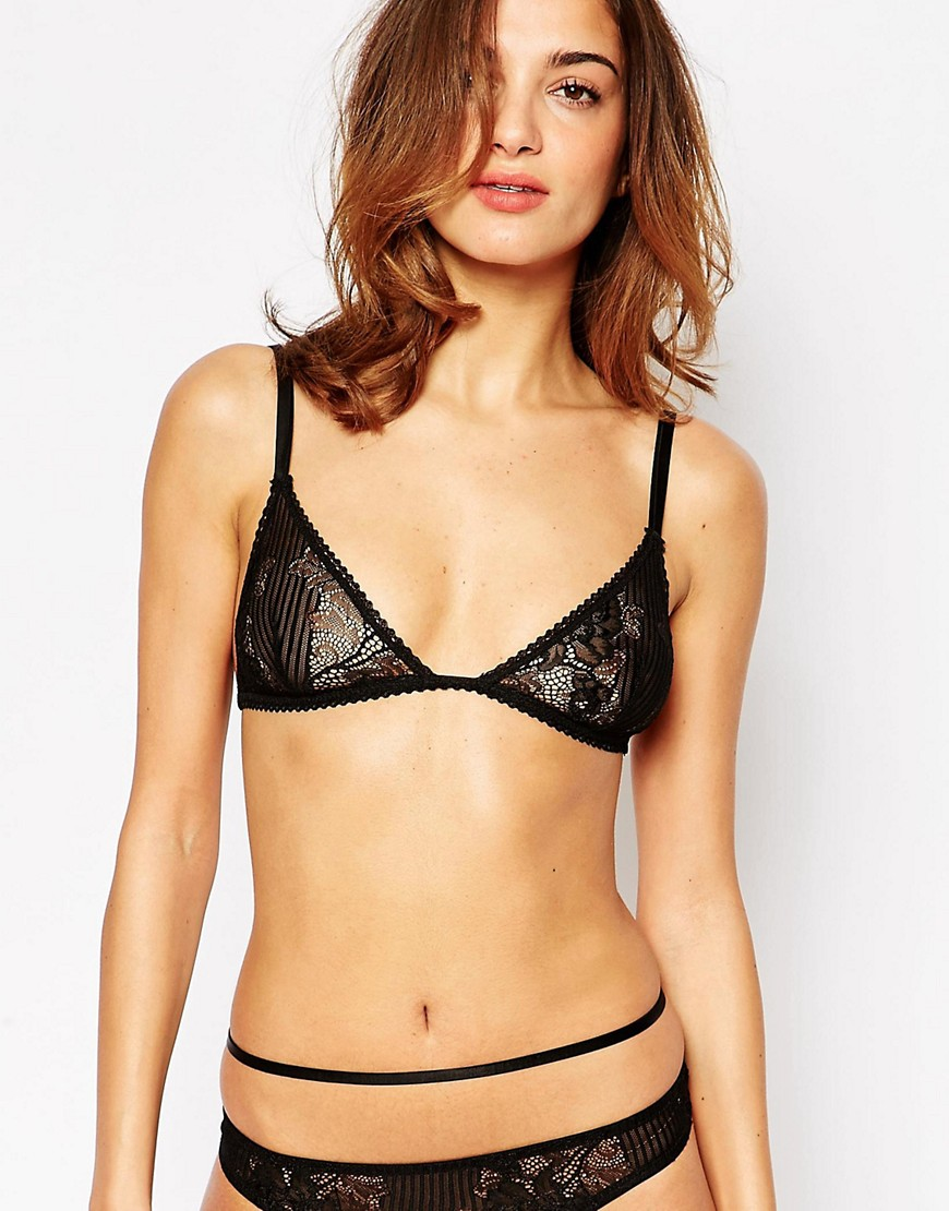 ASOS Ruby Lace Triangle Bra - Black
