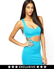 Oh My Love Bodycon Dress with Ring Detail