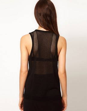 Image 2 ofDagmar Lace Knit Cowl Neck Tank