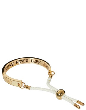 Image 2 ofRiver Island Enamel Motto Bracelet