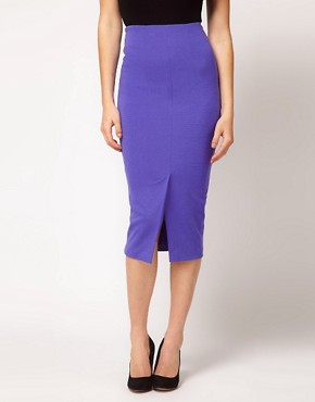 Image 4 ofASOS Pencil Skirt With Vent Front