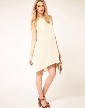 Image 4 ofASOS Maternity Exclusive Swing Dress With Dipped Hem