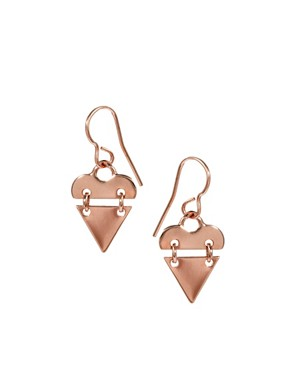 Image 1 ofMaria Francesca Pepe Bahaus Heart Earrings