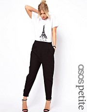 ASOS PETITE Exclusive Soft Trousers With Cuff