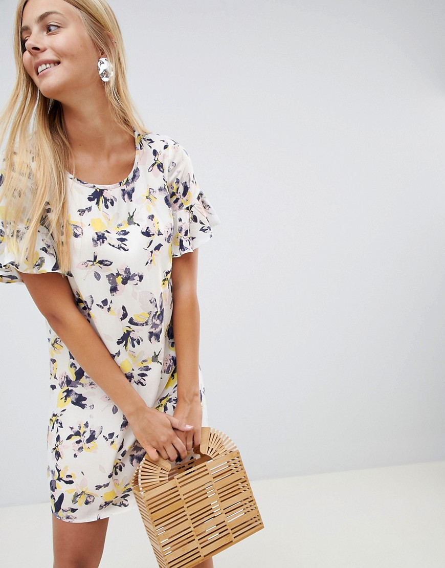 Vila Floral Smock Dress - Multi