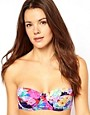 Image 1 ofASOS Penelope Floral Padded Longline Bikini Top