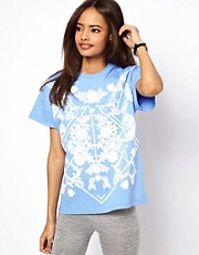 ASOS T-Shirt with Ornate Puff Print