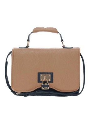 ASOS Front Padlock Satchel Bag from us.asos.com