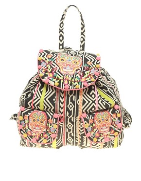 Image 1 ofASOS Oversized Tex Mex Skull Backpack