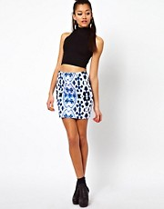 Motel Printed Mini Skirt