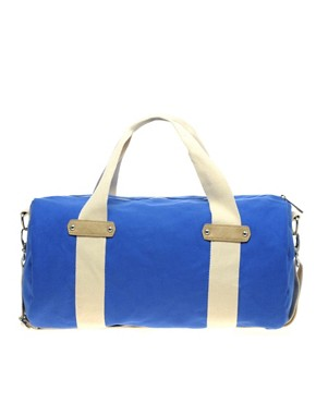 Image 1 ofASOS Canvas Webbing Trim Gym Bag