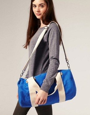 Image 3 ofASOS Canvas Webbing Trim Gym Bag