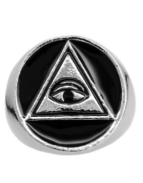 Image 2 ofASOS All Seeing Eye Signet Ring