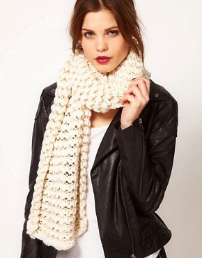 Image 1 of Warehouse Open Weave Lurex Scarf