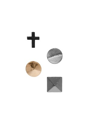 Image 1 ofASOS Screw Earring Pack