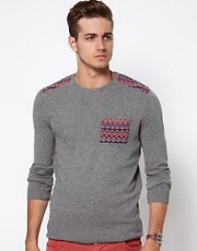 ASOS Fairisle Patched Jumper