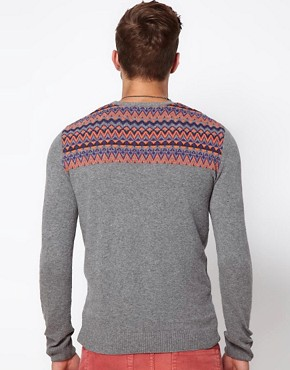 Image 2 ofASOS Fairisle Patched Jumper