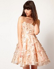 Nishe Floral Lazer Cut Dress