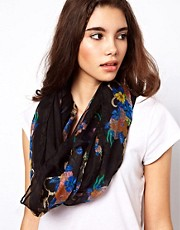 ASOS Floral + Chain Print Snood