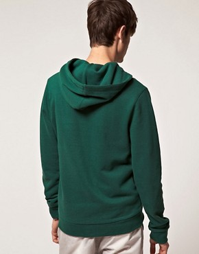 Image 2 of ASOS Hoodie With Varsity Applique