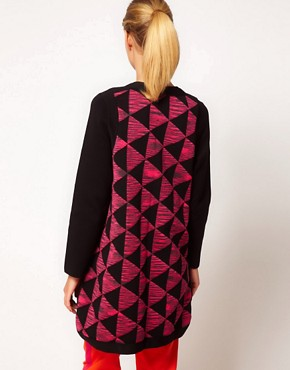 Image 2 ofM Missoni Structured Cardi-Coat With Prism Print