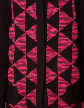 Image 3 ofM Missoni Structured Cardi-Coat With Prism Print