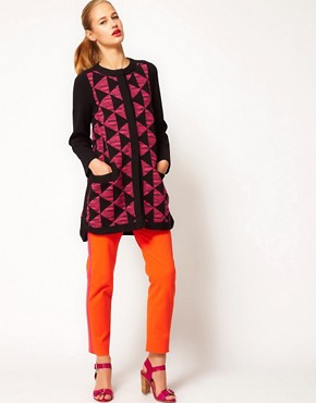 Image 4 ofM Missoni Structured Cardi-Coat With Prism Print