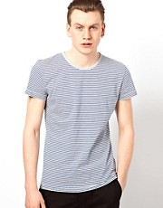 Wolsey T-Shirt With Fine Stripe