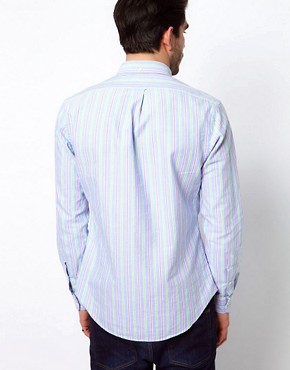 Image 2 ofPolo Ralph Lauren Shirt In Blue Pastel Stripe
