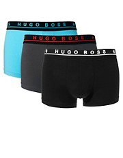 Boss Black 3 Pack Trunks