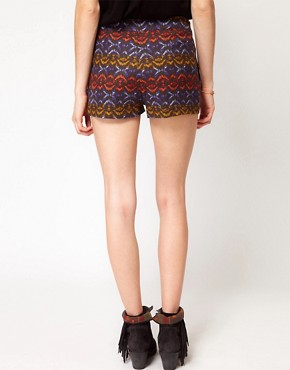 Image 2 ofFree People Tribal Print High Waisted Shorts