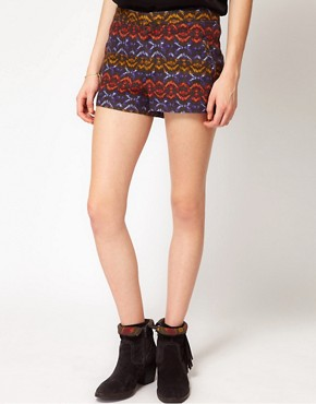 Image 4 ofFree People Tribal Print High Waisted Shorts
