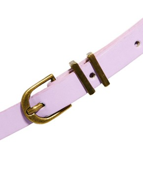 Image 3 ofASOS CURVE Metal Keeper Super Skinny Waist Belt