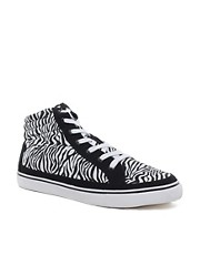 ASOS Trainers With Zebra Print