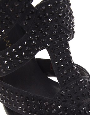 Image 3 ofRiver Island Priya Caged Embellished Sandals